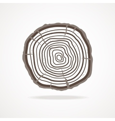 tree rings Flat Design vector image