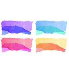 Watercolor background in four shades vector