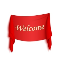 Welcome red realistic sticker vector image vector image