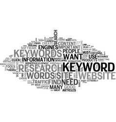 what keywords do i need and how do i find them vector image vector image