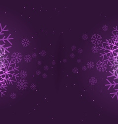 Snowflakes background in purple vector