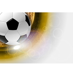 Football background gold round vector