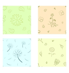 Nature seamless set vector