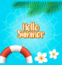 Hello summer holiday background vector