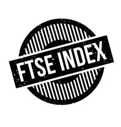 Ftse index rubber stamp vector