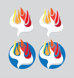 Holy spirit fire logo vector