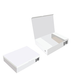 Opened and closed white boxes vector