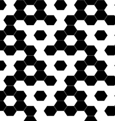 Checkered geometric hexagon background seamless vector