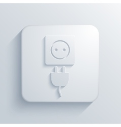 Modern plug light icon vector