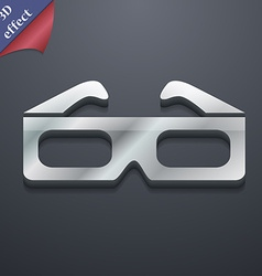 3d glasses icon symbol 3d style trendy modern vector