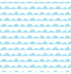 Scandinavian seamless blue pattern in hand drawn vector