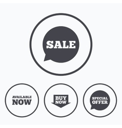 Sale icons Special offer speech bubbles symbols vector image