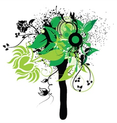 Abstract spring floral vector
