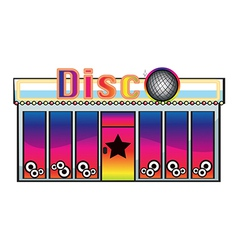 A CD store vector image