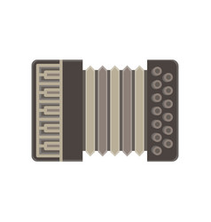accordion isolated music icon musical instrument vector image vector image