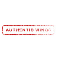 Authentic wings rubber stamp vector