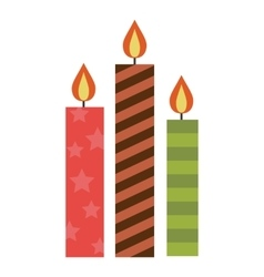 Candle flat icon vector image