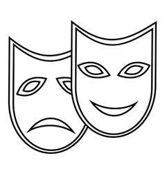 Carnival mask icon outline style vector
