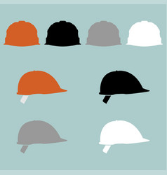 Construction helmet different colour icon vector