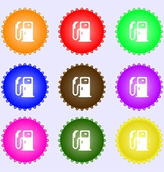 Fuel icon sign big set of colorful diverse vector