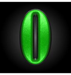 Green plastic figure 0 vector