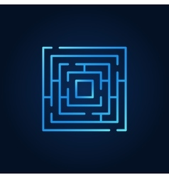 Labyrinth blue icon vector