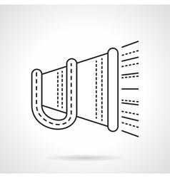 Megaphone flat line icon vector image