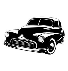 old vintage car isolated on white background vector image