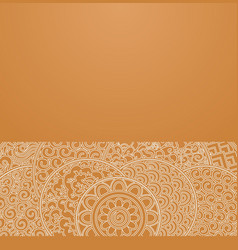 Orange circles japanese ornament vector