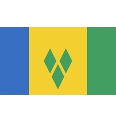 Saint Vincent and the Grenadines flag image vector image