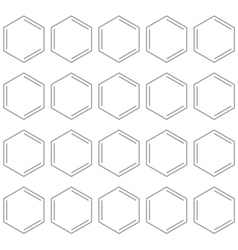 Seamless chemical benzene background vector image vector image