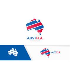 Set of australia logo combination oceania and vector