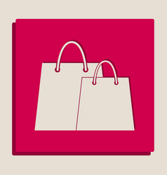 Shopping bags sign grayscale version of vector