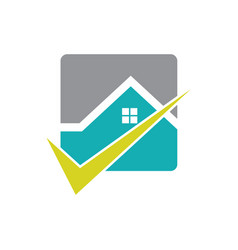 square home check business logo vector image