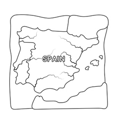 Territory of spain icon in outline style isolated vector