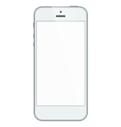 White business iphone 5s isolated on white vector image vector image