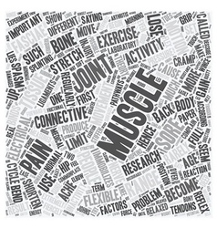 Why muscles get sore text background wordcloud vector