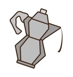 Cartoon kettle coffee tea cookware vector