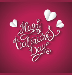 valentines day background hand drawing vector image