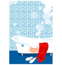 Bathtub bathroom vector