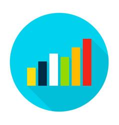 graph flat circle icon vector image