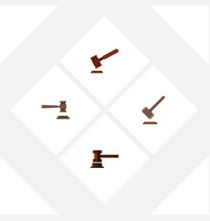 Flat icon lawyer set of government building vector