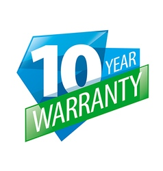 Logo 10 years warranty vector