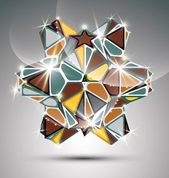 Party 3d metal glossy kaleidoscope object festive vector