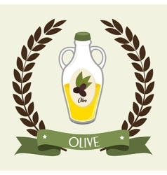 Natural olive oil vector