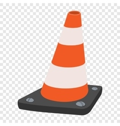 Road traffic orange cartoon cone vector
