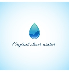 Crystal clear water vector
