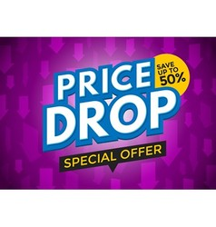 Price drop banner design vector