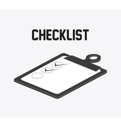 Checklist design flat vector