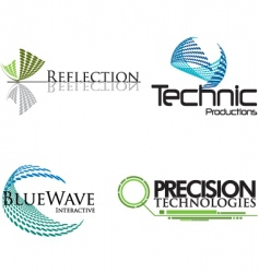 technical logos vector image